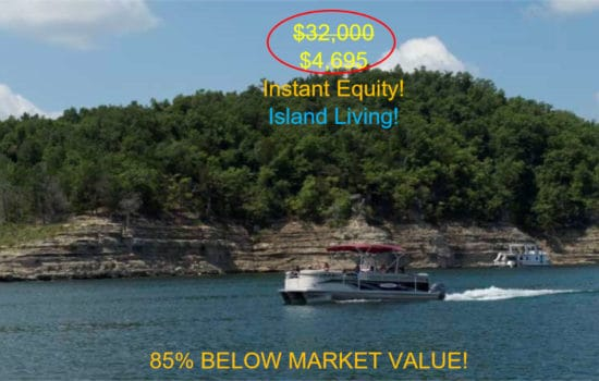 Island Resort Living $215 Month Golf Course, Table Rock Lake with Utilities