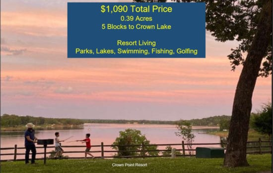 5 Blocks to Crown Lake is Your New Resort Property!